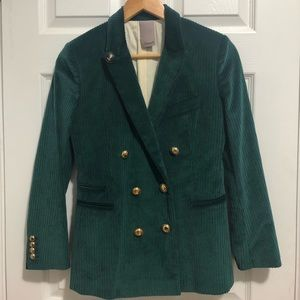 New. Free People velvet wide corduroy blazer